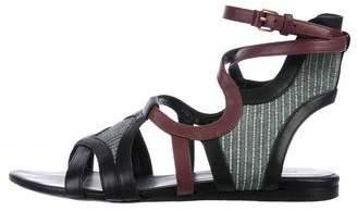 Balenciaga Stripe Leather Sandals