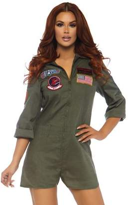 Leg Avenue Womens Top Gun Flight Suit Romper