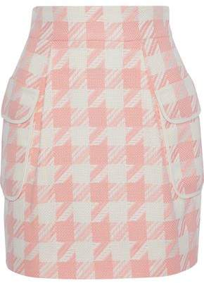 Pierre Balmain Houndstooth Woven Mini Skirt