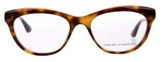 David Yurman Embellished Tortoiseshell Eyeglasses