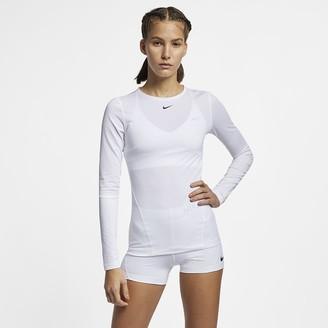 9767e67d1bdd4 Nike Women's Long-Sleeve Mesh Top Pro