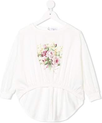 MonnaLisa floral print sweatshirt