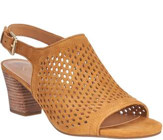 Franco Sarto Suede Perforated Sandals - Monaco 2