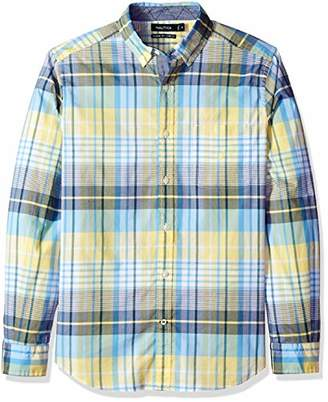 Nautica Men's Stretch Long Sleeve Casual Plaid Button Down Shirt