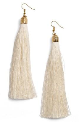 Women's Cristabelle Tassel Drop Earrings $28 thestylecure.com