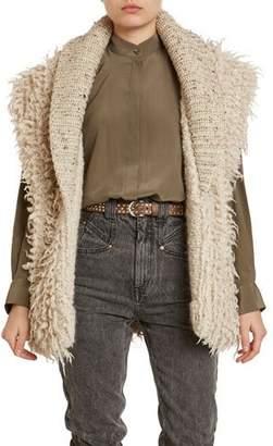 Isabel Marant Layden Curly-Wool/Alpaca Sweater Vest