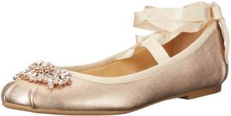 Badgley Mischka Women's Karter II Ballet Flat, Silver, 7.5 Medium US