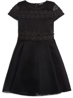 David Charles Girls' Black Mesh & Lace Dress - Sizes 7-16 $200 thestylecure.com