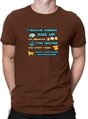Golden Retriever Teeburon A regular morning T-Shirt
