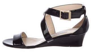 Jimmy Choo Patent Ankle-Strap Wedges