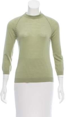 Bottega Veneta Wool Mock Neck Sweater