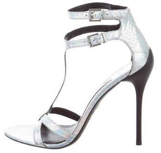 Brian Atwood Metallic Iridescent Sandals