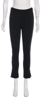 Halston Zip Accented Skinny Pant