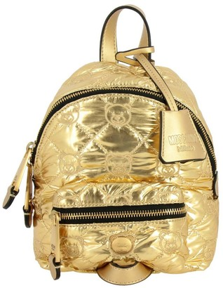 Moschino Backpack Backpack In Laminated And Padded Nylon With All Over Teddy