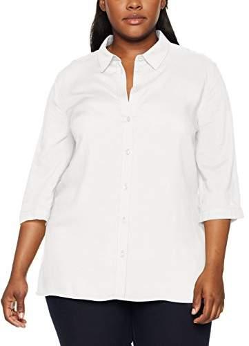 Ulla Popken Women's ausgestellte Hemdbluse Regular Fit 3/4 Sleeve Blouse