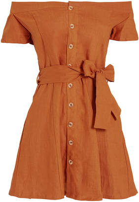 Faithfull The Brand Sayulita Off Shoulder Mini Dress