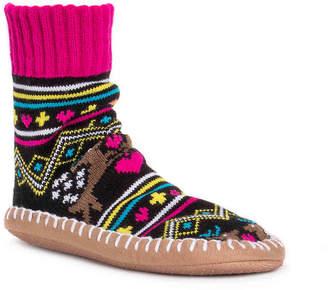 Muk Luks Short Sock Bootie Slipper - Women's