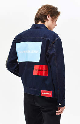Calvin Klein Placed Logo Denim Trucker Jacket