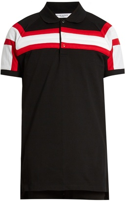 GIVENCHY Columbian-fit padded-stripes polo shirt $535 thestylecure.com