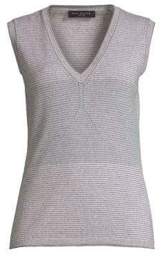 Piazza Sempione Wool and Cashmere Sleeveless Sweater