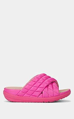 FitFlop LIMITED EDITION Women's Loosh Luxe Quilted Leather Slide Sandals - Pink