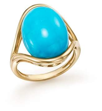 Bloomingdale's Turquoise Statement Ring in 14K Yellow Gold - 100% Exclusive