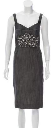Giles Embellished Sleeveless Dress