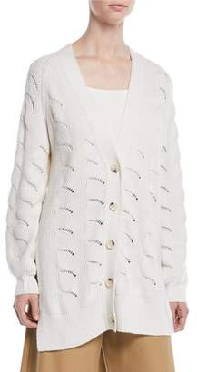 See by Chloe Side-Slit Button-Front Cardigan