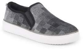 Botkier New York Harper Check Pattern Slip On Sneakers