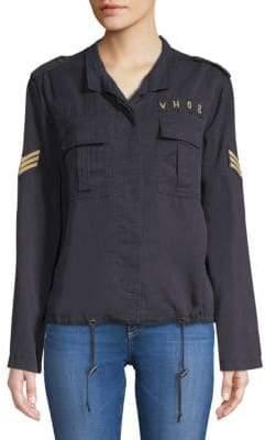 Saks Fifth Avenue RED Elden Spread Collar Button-Down Shirt