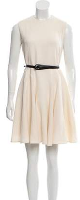 Christian Dior Wool Belted Dress wool Wool Belted Dress