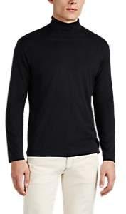 Sunspel Men's Cotton Turtleneck T-Shirt - Black