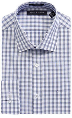 Tommy Hilfiger Slim Fit Gingham Cotton Dress Shirt