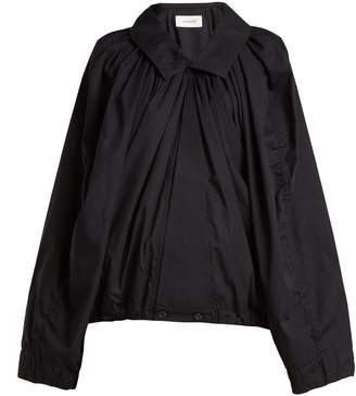 Lemaire Gathered cotton-poplin blouse
