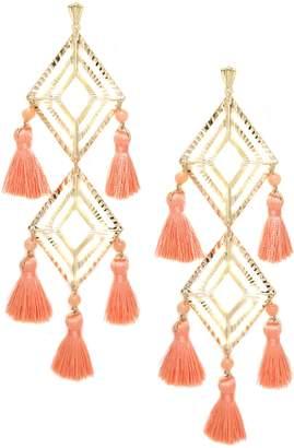 Ettika Jade Tassel Earrings