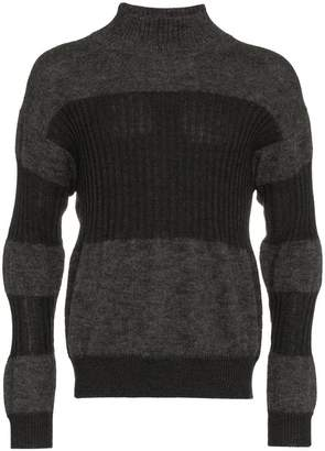 Issey Miyake turtle neck ribbed wool mohair blend jumper
