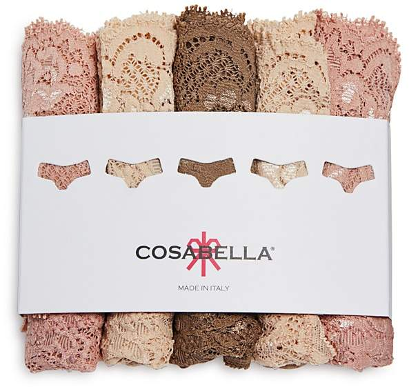 Cosabella Cosabella Never Say Never Cutie Low-Rise Thongs, Set of 5 #NSNPK5321