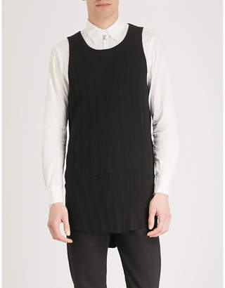 The Soloist Longline cotton-jersey vest top