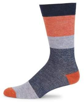 Saks Fifth Avenue COLLECTION Block Striped Socks