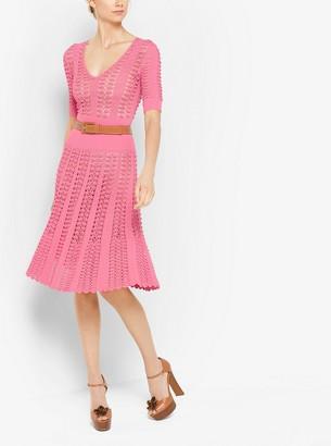 Michael Kors Hand-Crochet Stretch-Viscose Dress