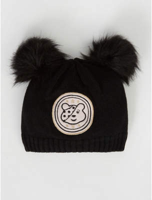 Bobble George Children in Need Black Pudsey Double Hat