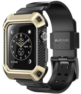 SUPCase Apple Watch 3 Case, SUPCASE [Unicorn Beetle Pro] Rugged Protective Case with Strap Bands for Apple Watch Series 3 2017 Edition [42mm, Compatible with Apple Watch 42mm 2015 2016 ] (Black)