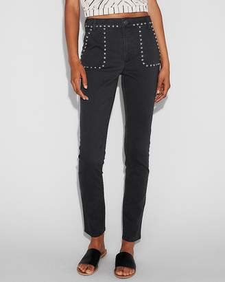 Express High Waisted Stud Embellished Stretch Leggings