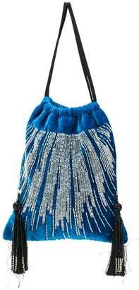 ATTICO embellished velvet pouch bag