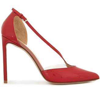 Francesco Russo patent pointed high heel pumps