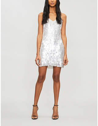 Alice + Olivia Alice & Olivia Contessa sequinned mini slip dress