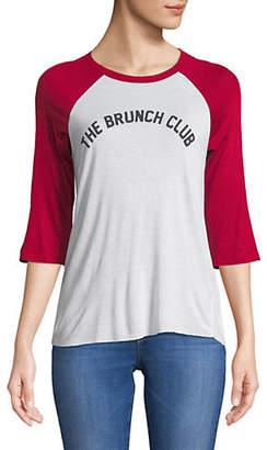 Lord & Taylor DESIGN LAB The Brunch Club Raglan-Sleeve Tee