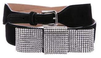 Dolce & Gabbana Crystal Bow Waist Belt w/ Tags