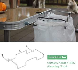 Yosoo Garbage Bag Holder,Trash Can Bracket Dustbin Cage Garbage Plastic Bag Holder Table Rack Outdoor Indoor Travel Use