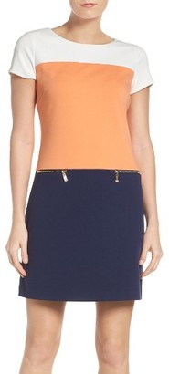 Women's Ellen Tracy Colorblock Ponte Sheath Dress $108 thestylecure.com